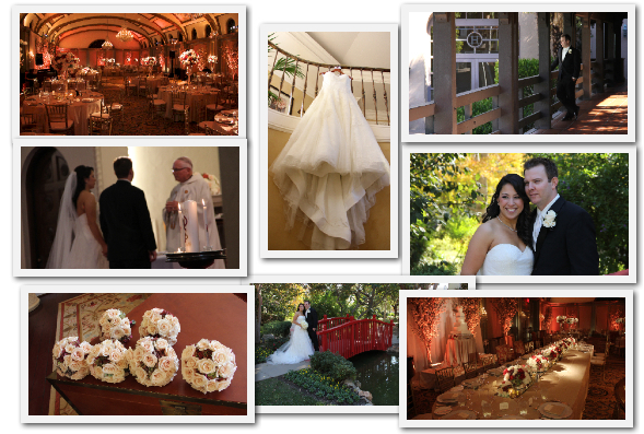 Langham Hotel Pasadena wedding cinematography images.