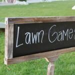 DIY wedding game sign
