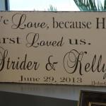 DIY wedding LOVE sign