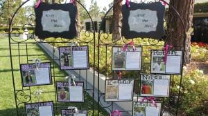 DIY bridal party marque with photos and bios